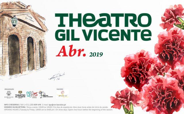 Teatro Gil Vicente apresenta-se para o mês de abril